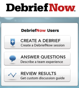 DebriefNow screenshot