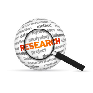 Research Word w-magnifying glass